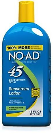 NO-AD Sunscreen Lotion SPF 45 -- 16 fl oz