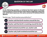 QOTD | English | Direct and Indirect Speech | 24 Nov 2019