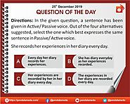 QOTD | English | Active-Passive Voice | 25 Dec 2019