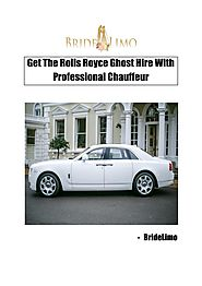Get The Rolls Royce Ghost Hire With Professional Chauffeur