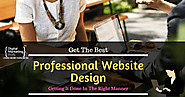 Professional Website Design – Getting It Done In The Right Manner