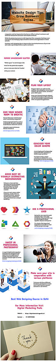 Website Design Tips - Grow Business Online | Infographic