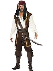 High Seas Pirate Costume - Mens Pirate Fancy Dress Outfit