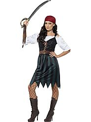 Pirate Female Deckhand Fancy Costume | Adult Pirate Outfit