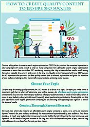 How to create quality content to ensure seo success
