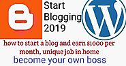 how to start a blog and earn $1000 per month, unique job in home ~ Help For Hindi - Online Internet Ki Puri Jankari H...