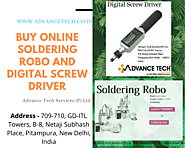 Buy Online soldering robo and digital screw driver