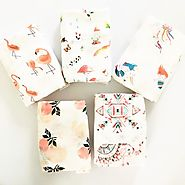 BEAUTIFUL PRINT 70% Bamboo+ 30% Cotton Baby Muslin Blankets for Newbor – ShoppySanta