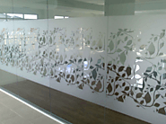 Promote Privacy and Your Brand with Decorative Glass
