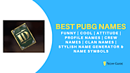1500+ Best Pubg Names - Cool, Attitude, Funny [Profile, Clan & Crew] - Techy Guide
