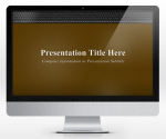Free Widescreen Executive Leather PowerPoint Template Brown | SlideHunter.comSlideHunter.com