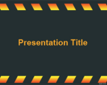 Dark Under Construction PowerPoint Template | Free Powerpoint Templates