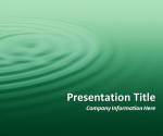 Ripples Green PowerPoint Template
