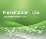 Wavy Green PowerPoint Template