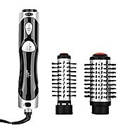 Hot Air Brush Styler and Dryer Ceramic Tangle Free Blow Dryer with Automatic Rotation 2-in-1 Hot Air Styling Brush wi...
