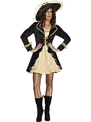 Womens Fever Pirate Swashbuckler Fancy Costume|Buccaneer Sexy Dress