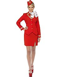 Top Women's Trolley Dolly Fancy Dress Costume Red in UK | Fancy Panda
