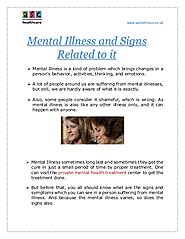 Mental Illness and Signs Related to it | edocr