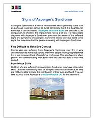Signs of Asperger's Syndrome by ASC HealthCare - Issuu