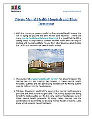 Private Mental Health Hospitals and Their Treatments by ASC HealthCare - Issuu