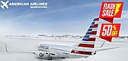 American Airlines reservations flash sale offer (50% off)