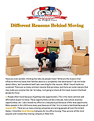 Different Reasons Behind Moving