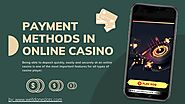 Payment Methods In Online Casino PDF