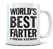 World's Best Farter, I Mean Father Coffee Mug Christmas, Father's Day Gift for Dad, Grandpa, Husband From Son, Daught...