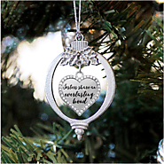 Sister Bond Open Heart Charm Christmas / Holiday Ornament