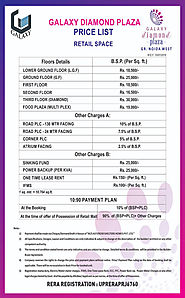 Galaxy Diamond Plaza small cost - Latest Price List - Payment Plan