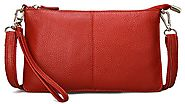 SCIEN Clutch Purse Wallet with Wrist Strap Leather Crossbody Shoulder Bag for Women
