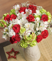 Christmas Flowers | Xmas Flowers | Christmas Bouquet | Christmas Flowers By Post