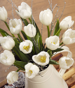 White Tulips | Christmas Tulips By Post | Bunches.co.uk