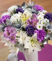 Christmas Bouquet | Lilac Frost | Christmas flowers by post from Bunches with free UK delivery