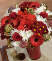 Christmas Kiss | Platinum Christmas Bouquet | Christmas Flowers By Post