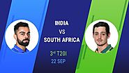 Enjoy the Third and Final T20 of South Africa Tour of India on YuppTV | IND vs SA
