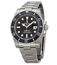 Rolex Oyster Perpetual Submariner Black Dial Black Cerachrom Bezel Steel Men's Watch 116610LN Replica