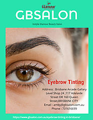 Beauty salon: Eyebrow Tinting in Brisbane