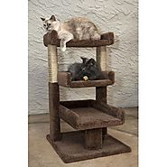 New Cat Condos Triple Cat Perch - Brown