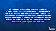 best treatment for all types of sports injuries