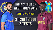 India Tour of West Indies 2019 Sechdule | Squads | IND vs WI - ODIs, T20I
