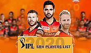 Sunrisers Hyderabad SRH IPL 2020 Squad | SRH IPL Team 2020