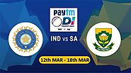 India to Play 3 ODI's PayTM Series Against South Africa from March 12th