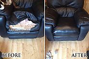 Leather Furniture Repairs & Deep Cleaned
