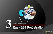 3 New Changes to make GST Registration Process Easier