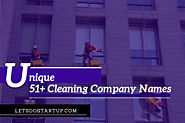 51+ Unique Cleaning Company Names - Let's Do Startup