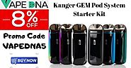 Kanger GEM Pod System Starter Kit - Prices are low – Now don't be slow with 8% OFF - VAPEDNA Australia Online Vape Store
