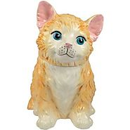 Westland Giftware Kookie Jars Orange Kitten Cookie Jar, 11-Inch