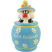 Westland Giftware Looney Tunes Tweety and Sylvester Best Friends Cookie Jar, 10-1/2-Inch