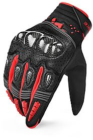 INBIKE Motorcycle Riding Gloves Leather - Motorbike Gloves Carbon Fiber – Geareach